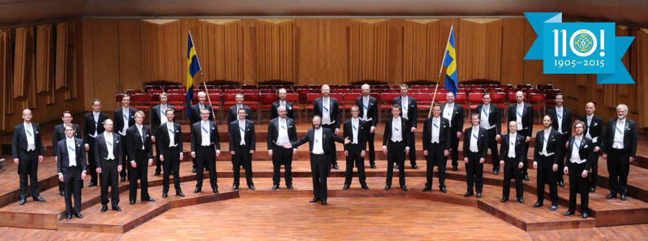 Studentsångarna 2013 i Berwaldhallen (110 års jubileum 2015).