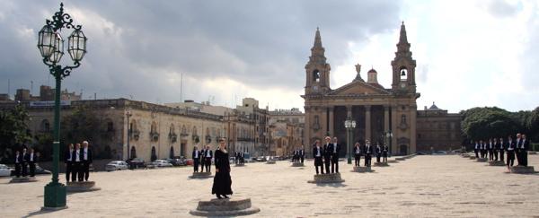 Studentsångarna på Malta, oktober 2009