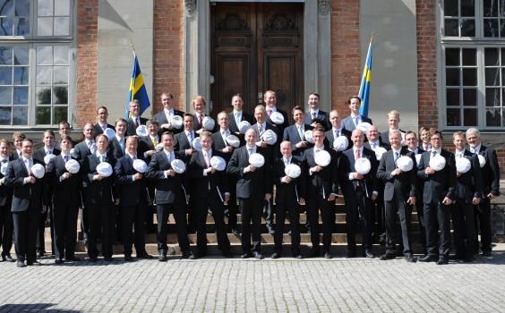 Studentsångarna 2012 framför Riddarhuset.